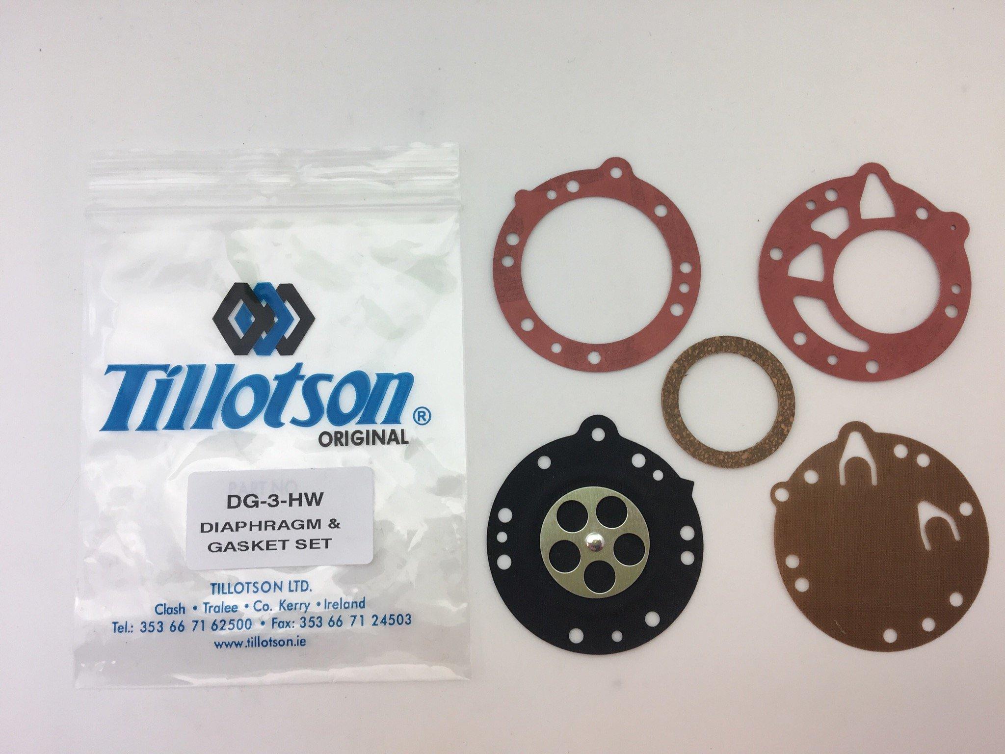 TILLOTSON DIAPHRAGM /& GASKET SET